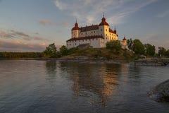 Lacko castle in last evening sunlight royalty free stock image