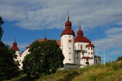 Lacko-Schloss in Schweden-Ansicht vom Land stockbild