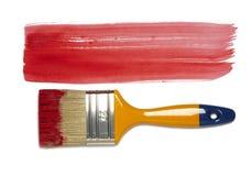Lackpinsel mit Farbenanstrich Lizenzfreie Stockbilder