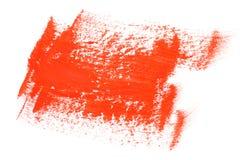 Lackpinselanschläge der roten Farbe Stockbilder