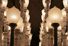 LACMA życia nocnego losu angeles wspaniali widoki obraz royalty free