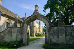 Lacock Abbey Entrance. Located in the village of Lacock, Wiltshire, England. Part of the movie Harry Potter was filmed in the cloisters of the abbey royalty free stock photos