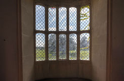 Lacock Abbey Oriel Window Arkivfoto