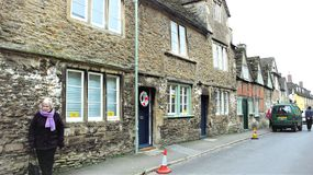East street, Lacock, Wiltshire, UK royalty free stock photography