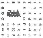 Lacomotive ikona Transport i logistyki ustawiamy ikony Transport ustalone ikony Fotografia Stock