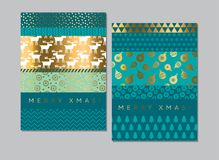 Laconic simple xmas pattern for card. Laconic simple xmas pattern for header, card, invitation, poster, cover and other web and print design projects. Patchwork Royalty Free Stock Photo