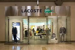 Lacoste brand store stock image