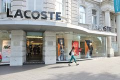 Lacoste fashion store Stock Photography