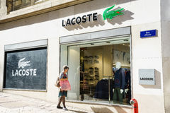 Lacoste fashion store Stock Images
