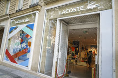 Lacoste fashion store Royalty Free Stock Images