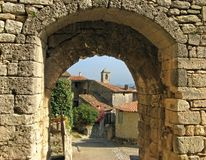 Lacoste, France, through archway royalty free stock image