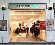 Lacoste shop in hong kong Stock Images