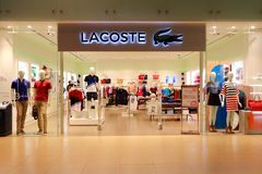 Lacoste store Royalty Free Stock Photos
