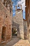 Lacoste Vaucluse, Provence, Frankrike: klocka- och klockatornet in Royaltyfria Bilder