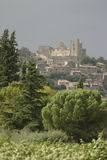 Lacoste village and castle in the Luberon, France Stock Photos