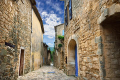 Lacoste village, France Stock Image