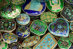 Lacquer Boxes Muttrah Stock Photos