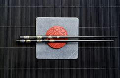 Lacquered Chopsticks Royalty Free Stock Image