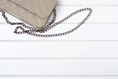 Lacquered ladies bag Royalty Free Stock Photography