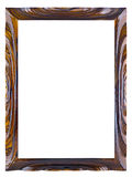 Lacquered wooden frame for a picture Royalty Free Stock Photo