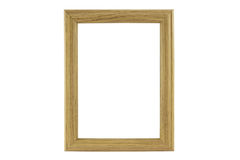 Lacquered wooden picture frame Stock Photo
