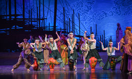 "Lacquerware dance-Dance drama ""The Dream of Maritime Silk Road"" Stock Photos"