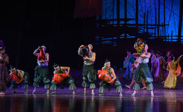 "Lacquerware dance-Dance drama ""The Dream of Maritime Silk Road"" Stock Photo"