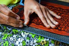 Lacquerware factory, Myanmar Stock Image
