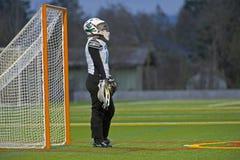 lacrosse вратаря девушок Стоковое Изображение RF