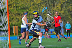 lacrosse вратаря девушок Стоковые Изображения