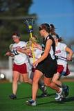 lacrosse девушок шарика cradling Стоковое Изображение RF