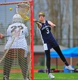lacrosse цели девушок Стоковые Изображения RF