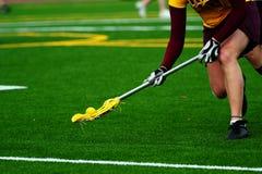 lacrosse шарика над поворотом Стоковые Изображения