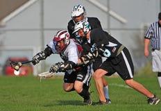 Lacrosse 2 auf 1 Stockbild
