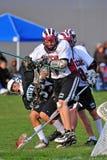 Lacrosse 3-1 Fotografia Stock Libera da Diritti