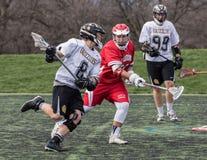Lacrosse-Aktion in Redding Lizenzfreies Stockbild
