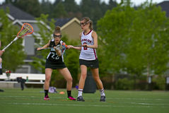 Lacrosse attraktionen Royaltyfria Foton