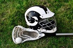 Lacrosse-Ausrüstung lizenzfreie stockbilder