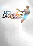 Lacrosse background. Lacrosse invitation advert poster or flyer background with empty space stock illustration