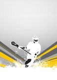 Lacrosse background. Lacrosse invitation advert poster or flyer background with empty space royalty free illustration