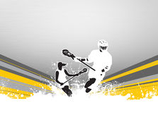 Lacrosse background. Lacrosse invitation advert poster or flyer background with empty space vector illustration