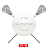 Lacrosse ball and sticks Royalty Free Stock Photo