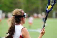 lacrosse bramkowy strzał Obrazy Stock