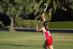 Lacrosse Catch Royalty Free Stock Photography