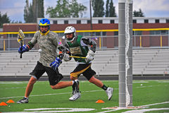 Lacrosse Chumash boys Royalty Free Stock Photography