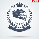 Lacrosse Club Badge and Label Royalty Free Stock Photography
