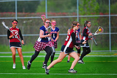 Lacrosse cradling the ball Royalty Free Stock Photos