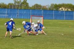 Lacrosse da High School Imagem de Stock Royalty Free
