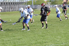 Lacrosse da High School Imagens de Stock Royalty Free