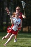 Lacrosse da High School das meninas Fotos de Stock